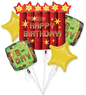Happy birthday mind craft balloon Bouque
