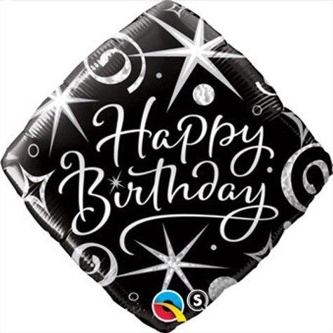 18D HB ELEGANT SPARKLES & SWIRLS happy birthday