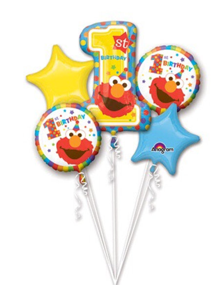 Elmo 5pc foil set 1st birthday
