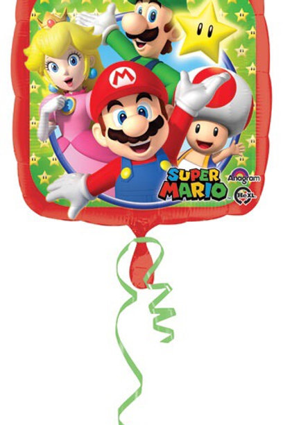 """Standard 18"""" Super Mario brothers  foil balloons gamer"""