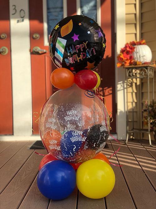 Stuffed Birthday balloon w/ candy