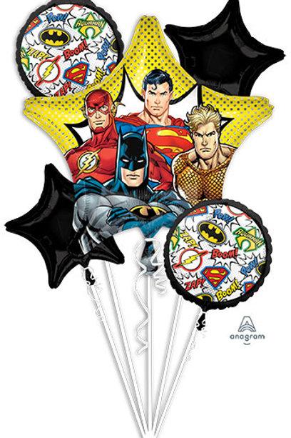 Justice League Bouquet batman flash superman aquaman foil balloons set