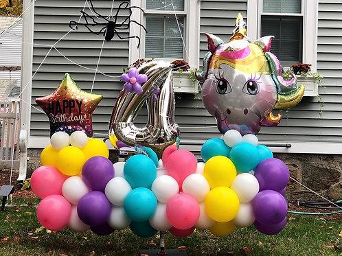 Happy birthday rainbow unicorn