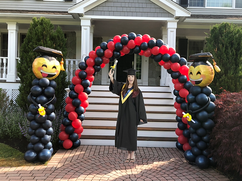 10 foot Grad Arch with 2 columns