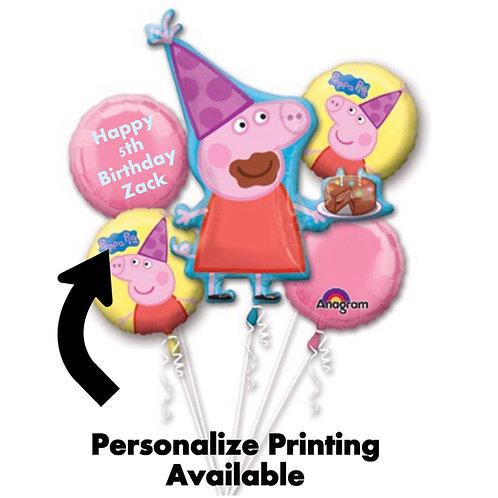 BOUQUET PEPPA PIG balloon