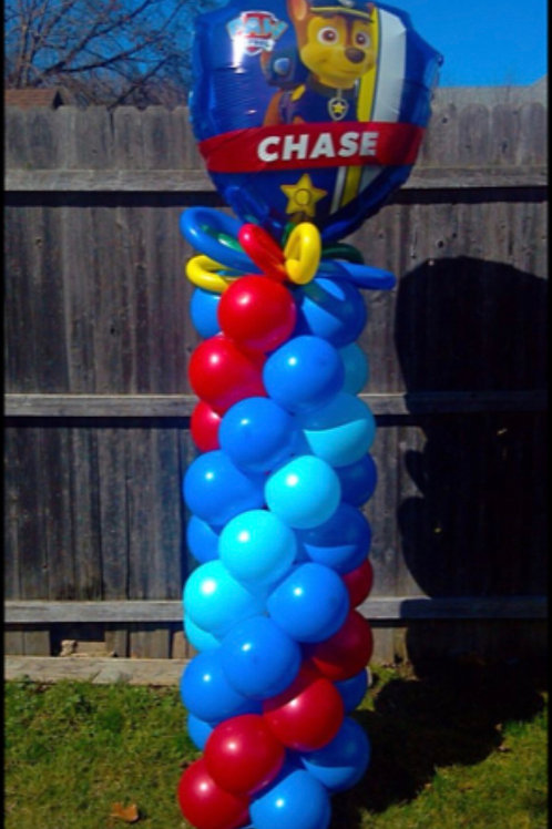 Paws patrol balloon tower column