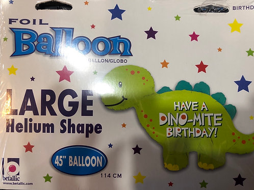 """Happy birthday Dinosaur 45"""" balloon"""