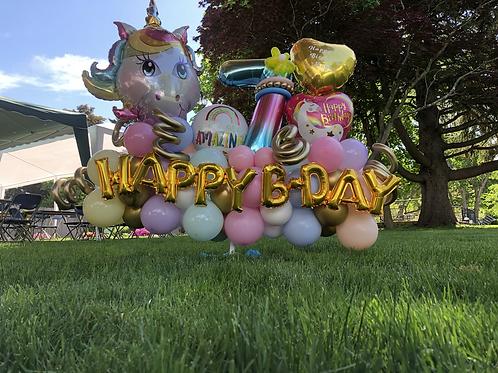 Custom Birthday Unicorn display