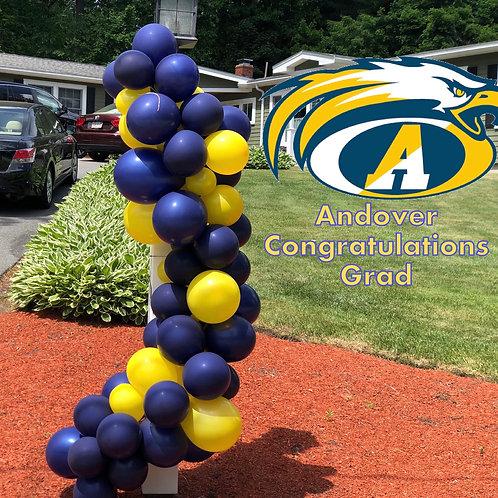 Andover Grad Balloon garland