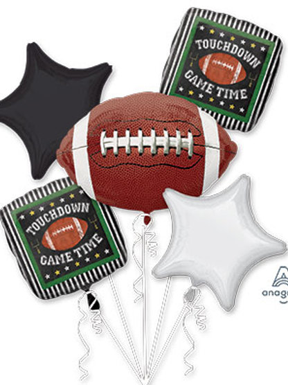 FOOTBALL BOUQUET BALLOONs FOIL SET GAME TIME DAY