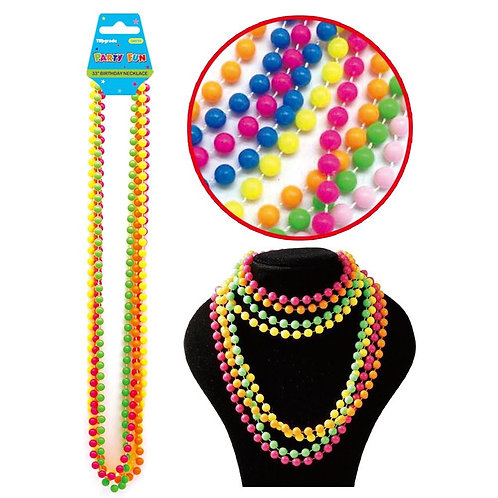 4pc set 33'' Glow party plastic Necklace