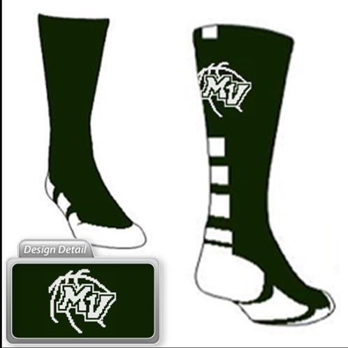 MV Logo Basketball Socks