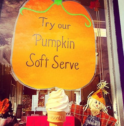 Our one-of-a-kind Pumpkin soft serve