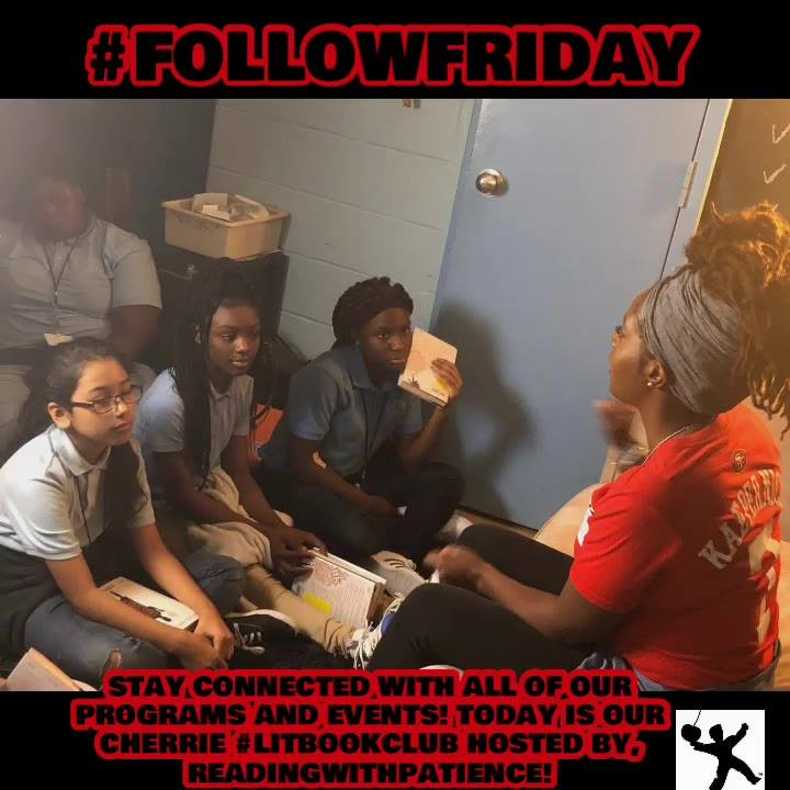 #FollowFriday ! It's Cherrie #litbookclub ! We are reading the Crossover by, Kwame Alexander. Please donate so we can purchase more books for more youth to join!  We Infuse. Empower. Inspire Youth!