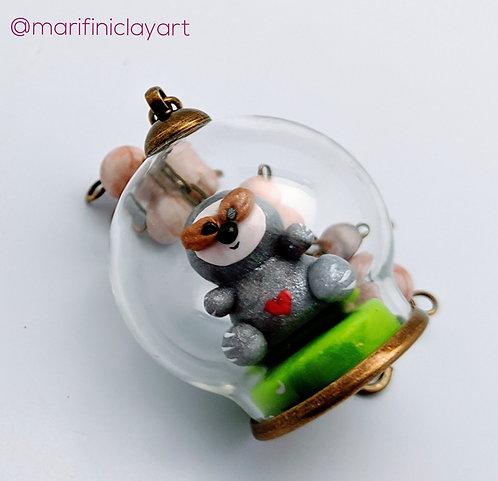 Tiny Sloth Bubble Keychain