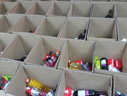 חלוקת מצרכים לנזקקים קמחא דפסחא