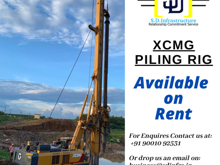 XCMG Piling Rig Available on Rent