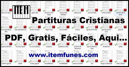 Descargar partituras cristianas gratis faciles pdf letra piano guitarra canto marcos