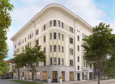Atjaunotais arhitekta Konstantīna Pēkšēna nams Ausekļa ielā 14 Rīgā