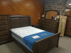 Weathered Gray Queen Sleigh Bed, Dresser, Mirror, Night Stand