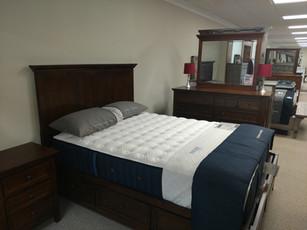 Queen Bed w/ Side Storage On Both Sides, Dresser, Mirror, Night Stand