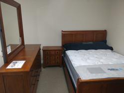 Oak Sleigh Queen Bed, Dresser, Mirror, Night Stand