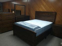 Reclaimed Queen Bed w/ Side Storage, Dresser, Mirror, Night Stand