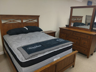 Queen Casual, Rustic Bedroom - Bed, Dresser, Mirror, Night Stand