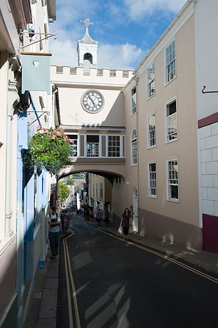 Gate House building in the centre of Totnes