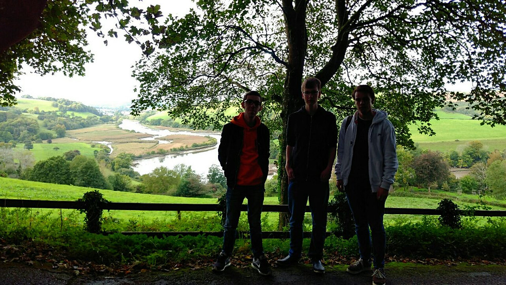 Me and some friends on a walk to Sharpham
