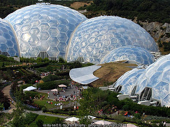 Famous eco project in Cornwall- the Eden project