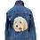Thumbnail: Custom pet portrait Embroidered Jean Jacket