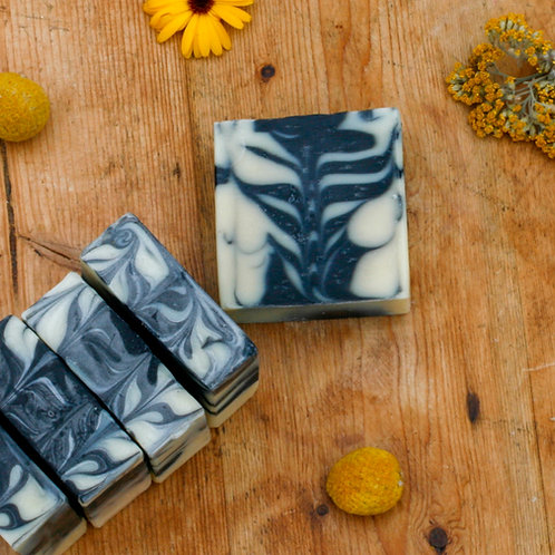 citrus | juniper | activated charcoal handmade soap