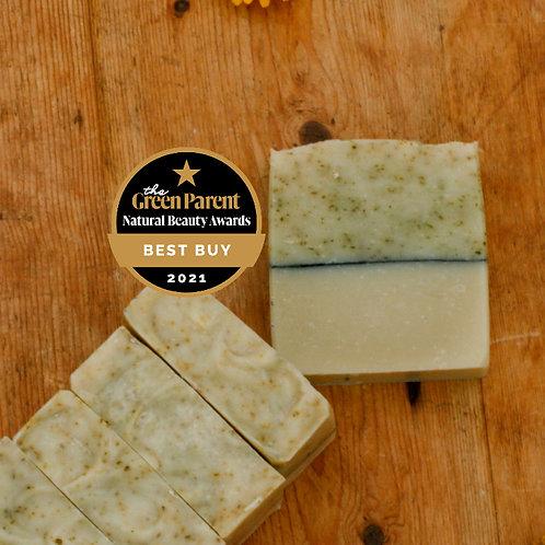 basil | vetiver | nettles | clay handmade soap