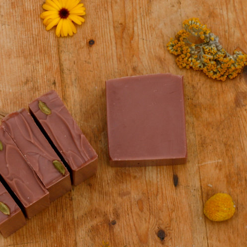 spiced patchouli | red clay handmade soap