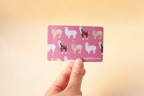 Alpaca Card Sticker