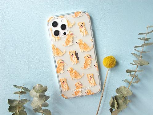 Kiki Golden Retriever Transparent Phone Case