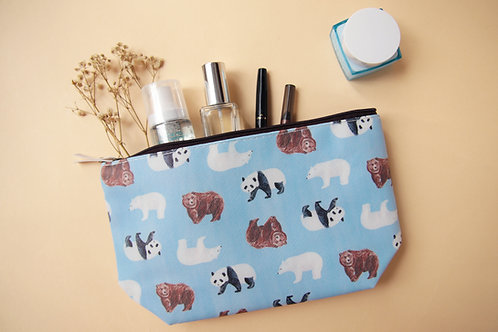Bear Cosmetic Bag (Panda Polar Bear Brown Bear)