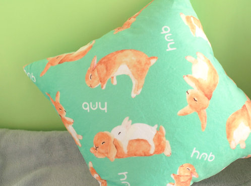 Toffee Rabbit Cushion Cover Throw Pillow