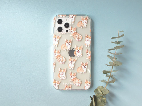 Bau Bau Corgi Transparent Phone Case