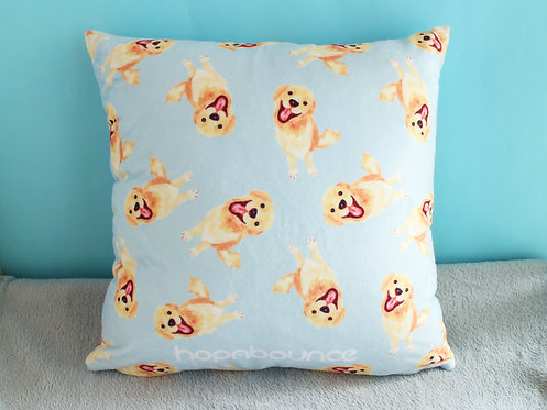 Kiki Golden Retriever Cushion Cover Throw Pillow