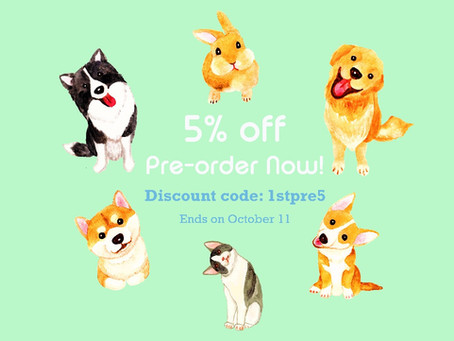 Pre-order NOW to enjoy 5% off on all items