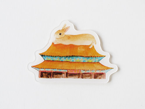 Toffee Rabbit Travel in HK Magnet
