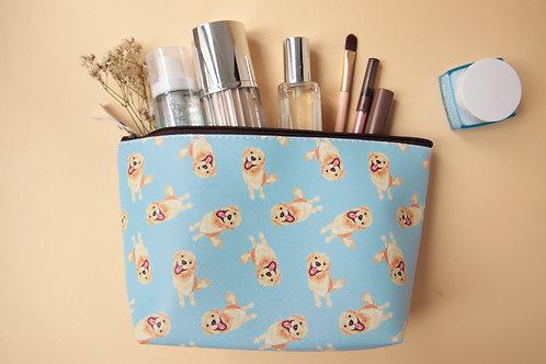 Kiki Golden Retriever Cosmetic Bag