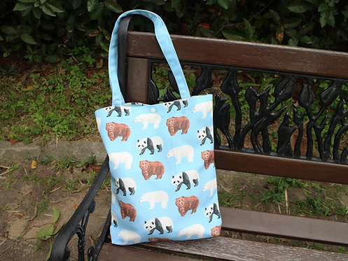 Bear Tote Bag (Panda Polar Bear Brown Bear)