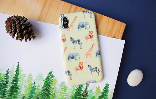African Animal Phone Case (Zebra Lion Elephant Giraffe)