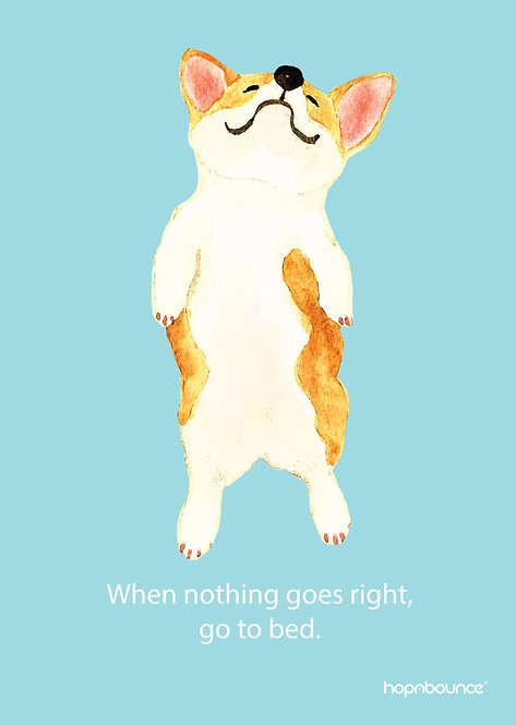Bau Bau-When nothing goes right, go to bed.