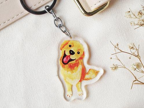 Kiki Golden Retriever Keychain