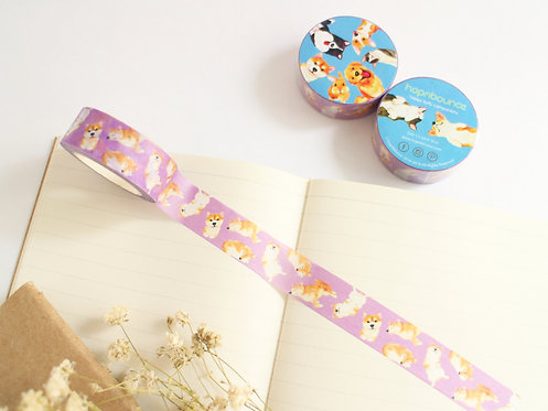 Kelly Shiba Inu Washi Tape/ Masking Tape in Purple