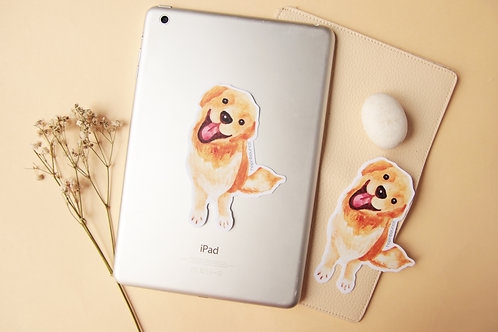 Kiki Golden Retriever Stickers